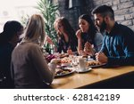 group of happy business people... | Shutterstock . vector #628142189