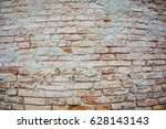 textured background  old brick... | Shutterstock . vector #628143143