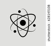 atom science vector icon | Shutterstock .eps vector #628145108