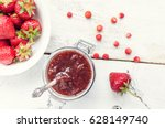 homemade delicious strawberry... | Shutterstock . vector #628149740