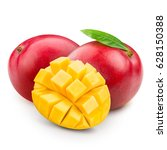 mango isolated on white... | Shutterstock . vector #628150388