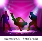 break dancer performance | Shutterstock .eps vector #628157183