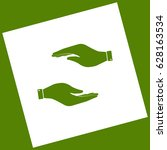 hand sign illustration. vector. ... | Shutterstock .eps vector #628163534