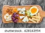 cheese platter garnished with... | Shutterstock . vector #628163954