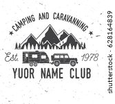 camper and caravaning club.... | Shutterstock .eps vector #628164839