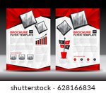 business brochure flyer... | Shutterstock .eps vector #628166834