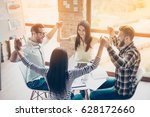 one for all and all for one ... | Shutterstock . vector #628172660