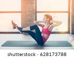 young fit and beautiful... | Shutterstock . vector #628173788