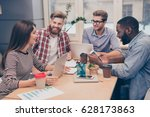 start up multiethnic... | Shutterstock . vector #628173863