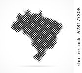 brazil map in halftone. dotted... | Shutterstock .eps vector #628179308