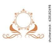 elegant frame heraldry ornate... | Shutterstock .eps vector #628182698