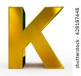letter k 3d golden isolated on...   Shutterstock . vector #628187648