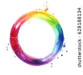 Watercolor Color Wheel  Hand...