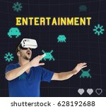playful entertainment... | Shutterstock . vector #628192688