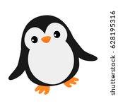 simple happy penguin | Shutterstock .eps vector #628195316