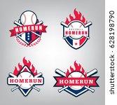 vector design set for baseball... | Shutterstock .eps vector #628198790