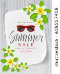 poster for summer sale. ... | Shutterstock .eps vector #628227428