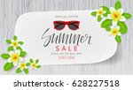 web banner with flowers for... | Shutterstock .eps vector #628227518