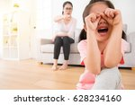 lovely asian female children so ... | Shutterstock . vector #628234160
