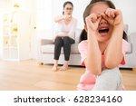 lovely asian female children so ... | Shutterstock . vector #628234160