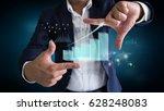 businessmen watching economic... | Shutterstock . vector #628248083