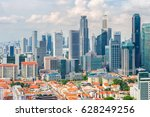 top views skyline business... | Shutterstock . vector #628249256