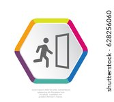 exit icon vector.  | Shutterstock .eps vector #628256060