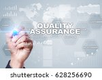 quality assurance concept. | Shutterstock . vector #628256690