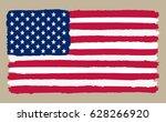 grunge flag of usa.vector... | Shutterstock .eps vector #628266920