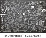 hand drawing doodle  vector... | Shutterstock .eps vector #628276064