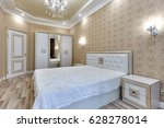 bedroom with a beautiful... | Shutterstock . vector #628278014