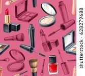 illustrations of make up... | Shutterstock . vector #628279688