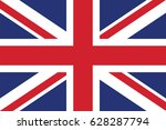 vector united kingdom flag ... | Shutterstock .eps vector #628287794