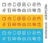 online shop icon design vector | Shutterstock .eps vector #628291286