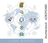 concept global business design... | Shutterstock .eps vector #628292480