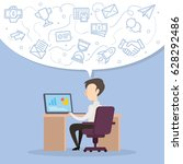 concept business design vector | Shutterstock .eps vector #628292486