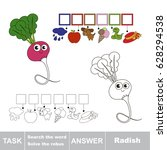 educational puzzle game for... | Shutterstock .eps vector #628294538
