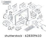 e commerce global internet... | Shutterstock .eps vector #628309610
