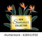new summer collection sale... | Shutterstock .eps vector #628311920