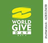 world give day logo vector... | Shutterstock .eps vector #628315658