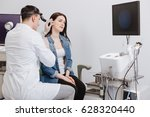 ear nose throat doctor wearing... | Shutterstock . vector #628320440