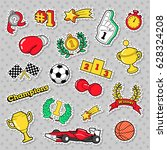 sports winner badges  patches... | Shutterstock .eps vector #628324208