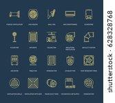 ventilation equipment line... | Shutterstock .eps vector #628328768