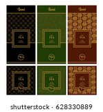 vector set of design elements... | Shutterstock .eps vector #628330889
