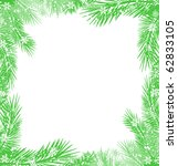 green christmas tree branch... | Shutterstock . vector #62833105