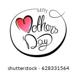 happy mothers day lettering... | Shutterstock .eps vector #628331564