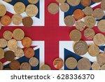 pound coins money  gbp  ... | Shutterstock . vector #628336370
