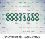 security concept  painted green ... | Shutterstock . vector #628339829