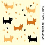 cute happy kitten | Shutterstock .eps vector #62834041