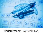 construction planning and... | Shutterstock . vector #628341164